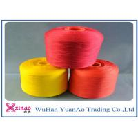 China High Tenacity Dyed 100 Polyester Spun Yarn / 100% Polyester Colored Thread Yellow Red Green wholesale