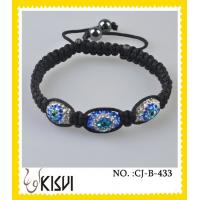 China OEM and ODM available blue and white crystal beads bracelets with lower price wholesale