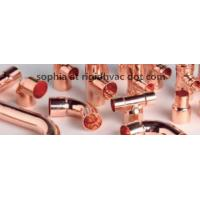 Buy cheap 90° Elbow Long Radius C X C copper fitting and copper elbow for refrigeration from wholesalers