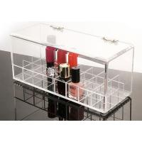China hot-selling clear acrylic makeup storage box with hinged lid on sale
