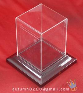 China BO (156) acrylic display case with wood base wholesale