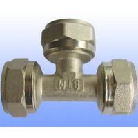 China compression brass fitting equal tee for PEX-AL-PEX wholesale