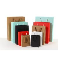 China Durable Coloured Paper Carrier Bags Matt / Glossy Lamination Surface Handling wholesale