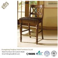 China Chatham Commercial Grade Bar Stools Wooden Backrest Rubber Wood Bar Furniture wholesale