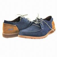 China Men's Leisure Casual Shoes with Suede Upper, Lace-up Closure, High Quality wholesale