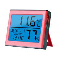 China Battery Digital Hygro Thermometer Hygrometer With Timer Alarm Date wholesale