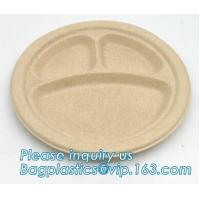 biodegradable disposable corn starch tray compartment catering tray fruit packaging tray made from cornstarch