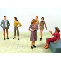 Buy cheap P25-6 7CM Architectural Scale Model People Painted Figures for train layout product
