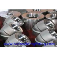 China Forged Elbow stainlss steel Pipe Fitting ASME B16.11 ASTM A182 F304 90DEG SW/TH 9000LB wholesale
