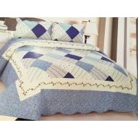 China Comfotable Quilt Bedding Set , Cotton Comforter Sets Border In Wave Or Straight wholesale