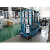 Quality 400kg Capacity 12 Meter Mobile Scissor Lift Platform Four Mast For Two Men for sale