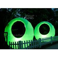 Buy cheap Promotional Ring Shaped Inflatable Led Light Balloon Waterproof Oxford Fabric product