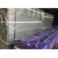 Buy cheap Construction Site Temporary Fencing Panels OD 32mm wall thick1.2mm Mesh 60mmx150mmxr2.5mm Violet & Purple Fence base from wholesalers