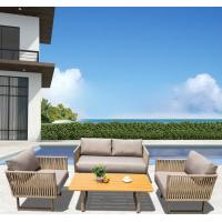 China Waterproof Rattan Garden Furniture Corner Sofa Dining Set For Leisure Area on sale