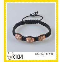 China High quality guarantee 10mm shamballa crystal beaded bracelet with factory price wholesale