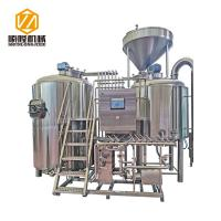 Quality Large Capacity Beer Distillery Equipment 3 Vessel 2500L SS / Red Copper Material for sale