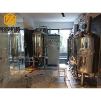 China Mirror Polish Brewhouse Equipment Steam Heated For Indoor / Outdoor Use wholesale
