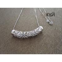 China Plated with rhodium Garnet pendant & 925 Silver jewellery wholesale