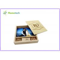 China Maple And Walnut Custom Wood Flash Drives Photo Album Shape For Wedding Gifts on sale