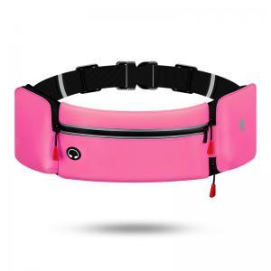 China Lycra sports belt waist bags, waterproof running belt with water bottle holder wholesale