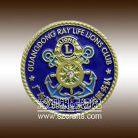 Buy cheap GuangDong Lions Club Commemorative Coin with Diamond from wholesalers
