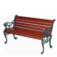 China Cast Iron Wooden Garden Bench , Eco Friendly Outdoor Wooden Bench Seat wholesale