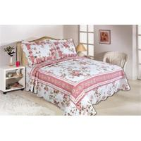 China Pink Color Full Size Comforter Sets Home Textile Printed Quits With Frame ISO9001 wholesale
