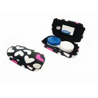 Quality Heart Pattern Iron Contact Lens Travel Case Lovely Suitable For Women / Youth for sale