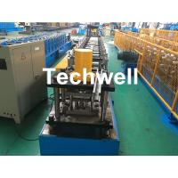 China GCr15 Steel Roller Guide Rail Cold Roll Forming Machine With Hydraulic Cutting wholesale