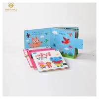 China Paperboard Custom Hardcover Book Binding / Movable Kids Story Books Eco Friendly on sale