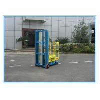 China One Person Aluminum Mobile Elevating Working Platform Mast Type For Supermarket wholesale