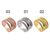 China Exquisite Craftsmanship 925 Sterling Silver Jewellery - Sterling Silver Polycyclic Ring With Three Colors wholesale