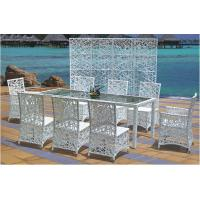 China Outdoor furniture rattan poolside dinning set --16019 wholesale