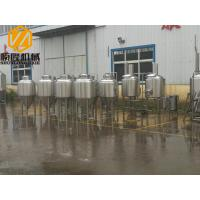 China Metal Industrial Beer Equipment SS304 Or Cooper Material With Tanks / Pumps wholesale