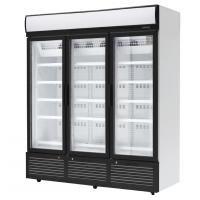 China 3 Doors Stainless Steel Glass Door Beverage Cooler Large Storage Facilities wholesale