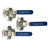 "China 1/2"" to 2"" Stainless Steel 304 316 flow Control ""T"" and ""L""  3  way diverter ball valve Heavy type wholesale"