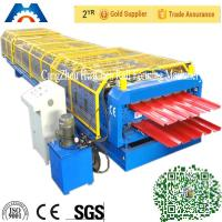 China High speed double layer building used metal roofing roll forming machine wholesale