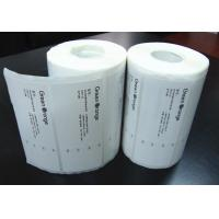 China Adhesive Blank Sticker Labels , Permanent Thermal Transfer Labels wholesale