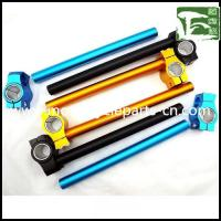 China R6 CNC Alloy Handlebar Yamaha Motorcycle Spare Parts Clip on Handle Bar , blue / golden / black wholesale