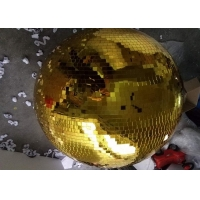 Buy cheap 120CM Golden Mirror Ball Disco Stage Lights Rotating Ball from wholesalers