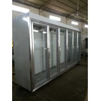 China Transparent Seamless Splicing Glass Door Freezer For Restaurant wholesale