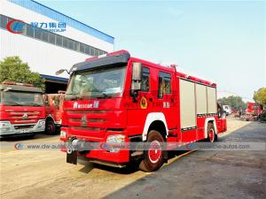 China Howo 4x2 Emergency Rescue Fire Truck With Folding Crane wholesale