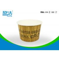 China 4 Oz Flexo Printed Disposable Paper Ice Cream Cups Double Wall Coated By Thick PE wholesale