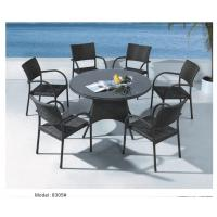 China 6pcs arm dining chairs with round table- 8305 wholesale