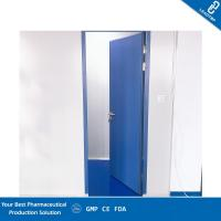 China Blue Color Auto Closing Pharmaceutical Clean Room Door With CE Certification on sale