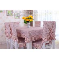 China Inexpensive heavy duty cotton dining tablecloths and chair covers wholesale, on sale