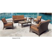 China 6-piece patio outdoor  wicker rattan deep seat sofa set with single chair loveseat sofa-9101 wholesale