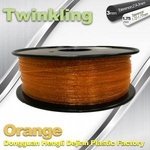 China MSDS Twinkling Orange 3D Printer Filament 1.75mm Filament For 3d Printer wholesale