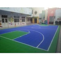 China Outdoor Sports Playground Equipments Plastic Sport Court Flooring 10 Year Service Life wholesale