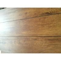 China Heat resistant wood grain uv coating embossed PVC vinyl flooring planks wholesale